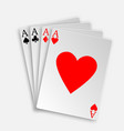 royal straight flush playing cards poker hand vector image