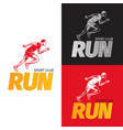running sportsman on different background sport vector image vector image