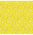 seamless background fresh lemon slices in vector image