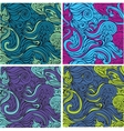 Seamless pattern beautiful decorative curls vector image vector image