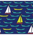 Seamless pattern of boats and sails vector image