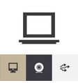 set of 4 editable computer icons includes symbols vector image vector image