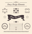 Set of fancy icons frames borders divider lines vector image vector image