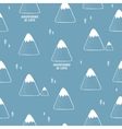 Simple seamless pattern with mountains vector image vector image