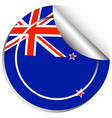 sticker design for flag of new zealand vector image vector image