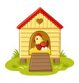 the hen sits in the henhouse vector image