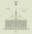 town hall in tartu estonia vector image vector image