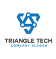 Triangle Tech Design vector image vector image