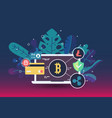 web payment icon in flat style internet store vector image