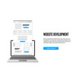 website development concept landing page business vector image