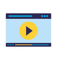 website video content on white background vector image