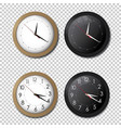 white and black wall office clock icon set vector image