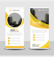 yellow circle business roll up banner flat design vector image vector image