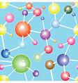 Molecule seamless communication background vector image