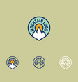 mountain logo sports facilities emblem vector image