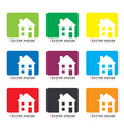 House icon collection vector image