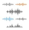 Waveform Shape Soundwave Audio Wave Graph Set
