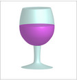 a glass of red wine on a white background organic vector image vector image