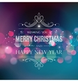 Abstract Christmas light background wuth retro vector image vector image