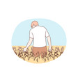 agriculture farming harvesting concept vector image
