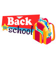back to school rucksack with books and textbooks