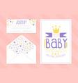 bashower invitation card template envelope vector image