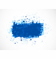 big bright blue grunge splash on white background vector image