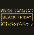 black friday sale background on white discount vector image vector image
