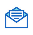 business email filled line icon blue color vector image vector image