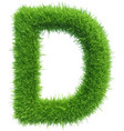 Capital letter d from grass on white