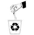 cartoon of businessman or office worker thrown vector image