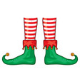 christmas cartoon elfs legs vector image