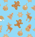 Christmas cookies pattern vector image vector image