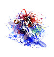 color of a skier vector image vector image