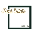 Color vintage real estate agency emblem vector image vector image
