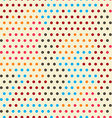colored points seamless pattern vector image vector image