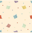 colorful book with dots seamless pattern vector image vector image