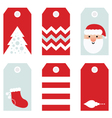Cute modern Christmas holiday gift tags printables vector image vector image