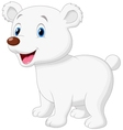 Cute polar bear cartoon vector image