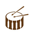 drum icon design template vector image vector image