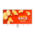 easter sale special holiday offer billboard with vector image vector image
