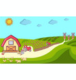 farm concept banner cartoon style vector image vector image