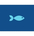 flat fish against line vector image vector image