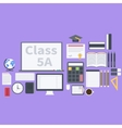 Flat school pack vector image