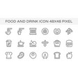 food drink coffee icon vector image