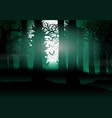 forest view with the background of full moon light vector image