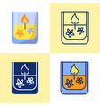 gel candle icon set in flat and line style vector image vector image