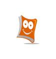 happy book logo design template vector image vector image