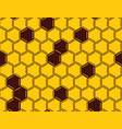 honeycomb seamless pattern on yellow background vector image