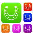 horseshoe set color collection vector image vector image